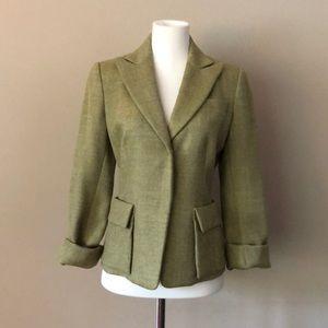 CHARLES NOLA. Green Herringbone Wool Blazer